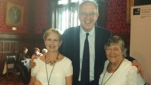 L-R - Carol McCabrey John Baron MP and Maggie Wilcox (Indpendent Cancer Patients Voice)