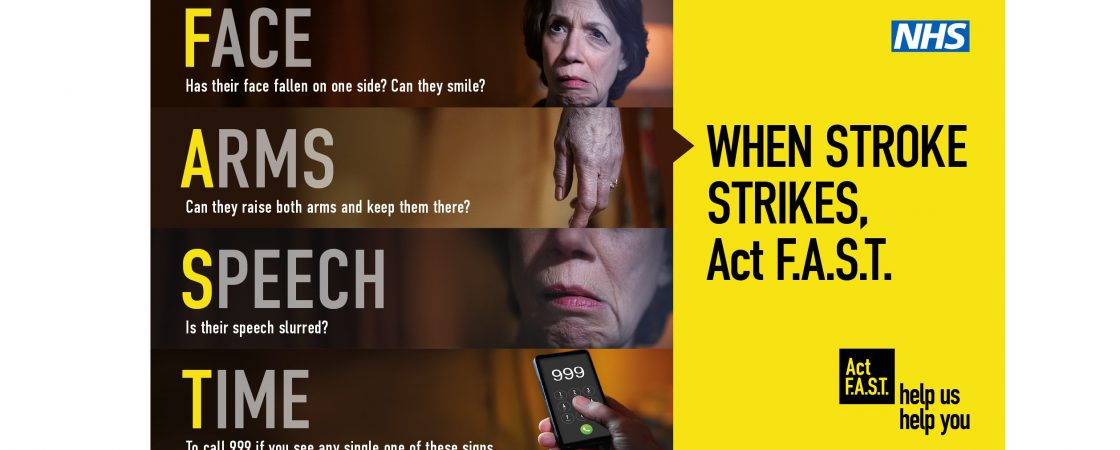 Encouraging people to act on the signs of a stroke: Face, Arms, Speech, Time to call 999